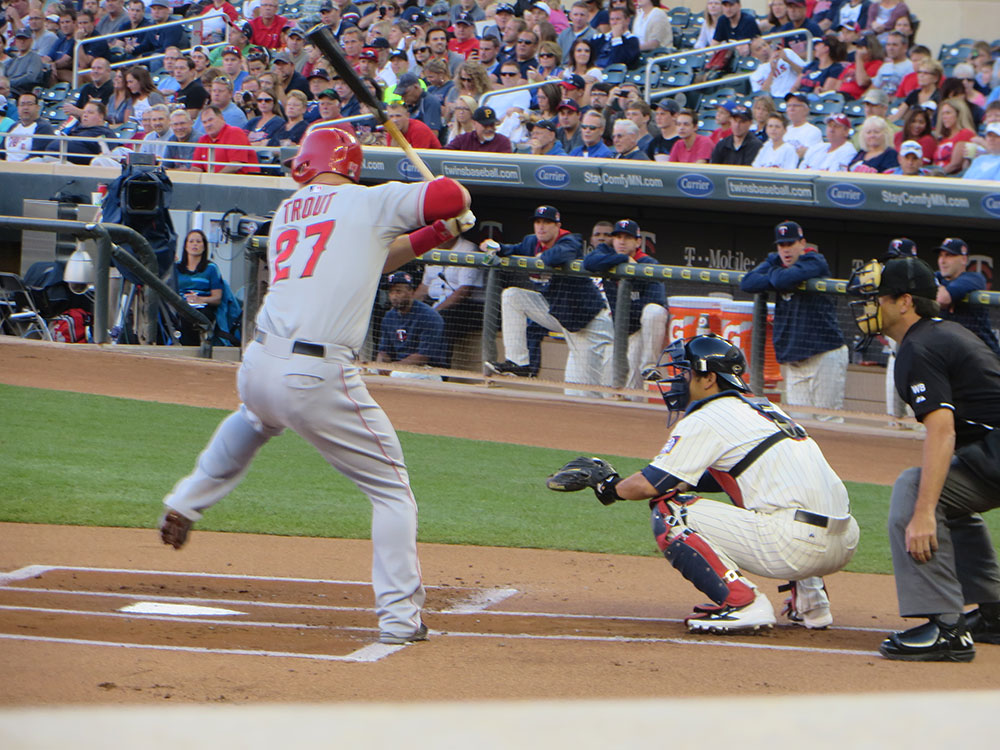 Mike Trout Batting 2014 Mike Trout Gives Today...