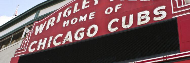 Chicago - Circa September 2008: Wrigley Field Home of Chicago Cubs